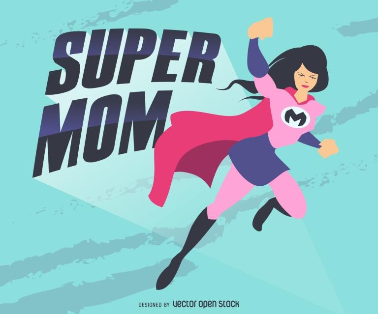 ec6e7318ef1ac39b72f7788d95df6452-super-mom-illustration